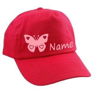 Junior Kinder CAP Schmetterling mit Namen oder Text personalisiert verschiedene Ausführungen