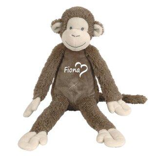 Stofftier Affe mit Namen personalisiert Geschenk verschiedene Ausführungen