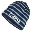 Mütze gestreift mit Namen oder Text personalisiert...