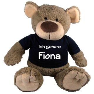 Stofftier Teddy Bär mit T-Shirt Geschenk mit Namen personalisiert verschiedene Ausführungen