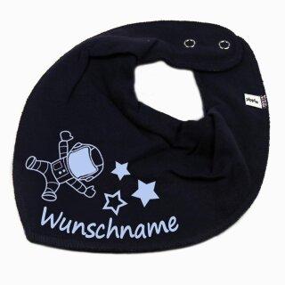 HALSTUCH ASTRONAUT mit Namen oder Text personalisiert für Baby oder Kind verschiedene Ausführungen