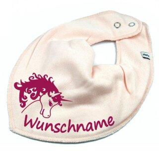 HALSTUCH Einhorn mit Namen oder Text personalisiert für Baby oder Kind verschiedene Ausführungen