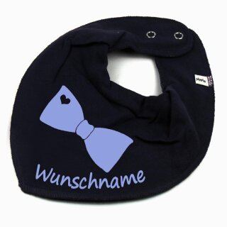 HALSTUCH FLIEGE mit Namen oder Text personalisiert für Baby oder Kind verschiedene Ausführungen
