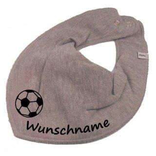 HALSTUCH Fußball mit Namen oder Text personalisiert für Baby oder Kind verschiedene Ausführungen