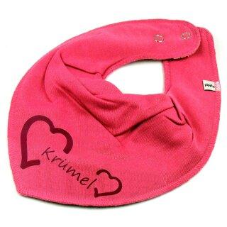 HALSTUCH Herz mit Namen oder Text personalisiert für Baby oder Kind verschiedene Ausführungen