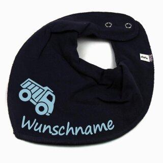 HALSTUCH Lastwagen mit Namen oder Text personalisiert für Baby oder Kind verschiedene Ausführungen