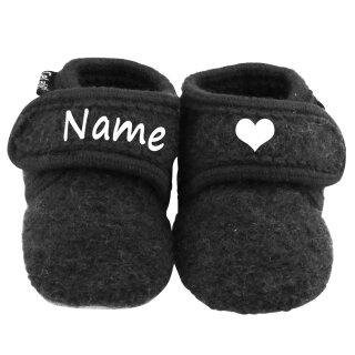 Elefantasie Baby Wollschuhe mit Namen personalisiert Verschiedene Ausführungen
