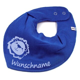 HALSTUCH Löwe mit Namen oder Text personalisiert für Baby oder Kind verschiedene Ausführungen