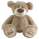 Stofftier Teddy Bär Geschenk mit Namen und...