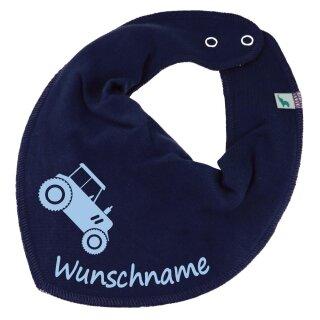 HALSTUCH Traktor mit Namen oder Text personalisiert für Baby oder Kind verschiedene Ausführungen