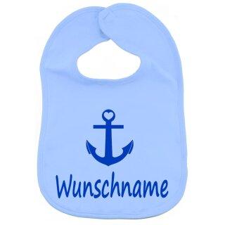 Lätzchen Anker mit Namen oder Text personalisiert für Baby oder Kleinkind verschiedene Ausführungen