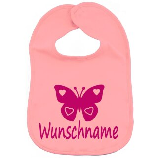 Lätzchen Schmetterling mit Namen oder Text personalisiert für Baby oder Kleinkind verschiedene Ausführungen