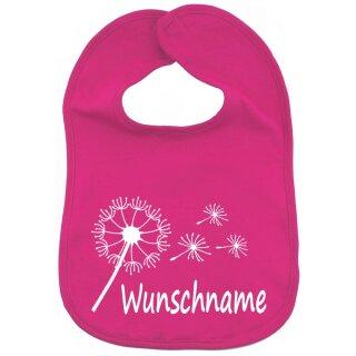 Lätzchen Pusteblume mit Namen oder Text personalisiert für Baby oder Kleinkind verschiedene Ausführungen