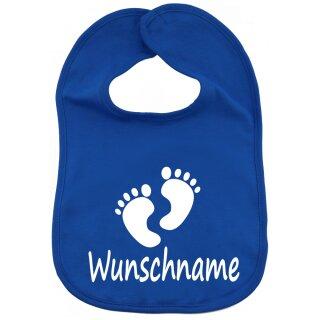 Lätzchen Füße mit Namen oder Text personalisiert für Baby oder Kleinkind verschiedene Ausführungen