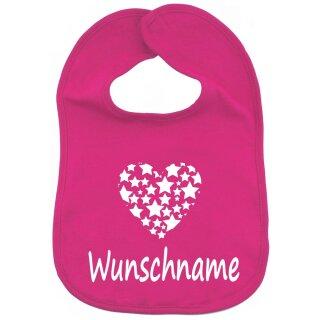 Lätzchen Herz Sterne mit Namen oder Text personalisiert für Baby oder Kleinkind verschiedene Ausführungen