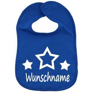 Lätzchen Sterne mit Namen oder Text personalisiert für Baby oder Kleinkind verschiedene Ausführungen