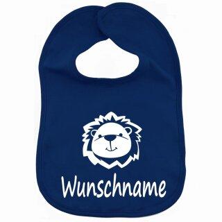 Lätzchen Löwe mit Namen oder Text personalisiert für Baby oder Kleinkind verschiedene Ausführungen