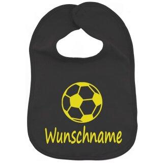 Lätzchen Fußball mit Namen oder Text personalisiert für Baby oder Kleinkind verschiedene Ausführungen
