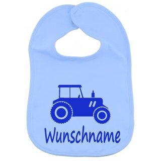 Lätzchen Traktor mit Namen oder Text personalisiert für Baby oder Kleinkind verschiedene Ausführungen
