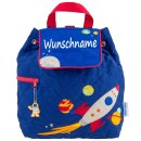 Rucksack Kindergartentasche mit Namen bedruckt Motiv Rakete