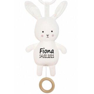 Spieluhr Hase Geschenk mit Namen und Geburtsdatum personalisiert