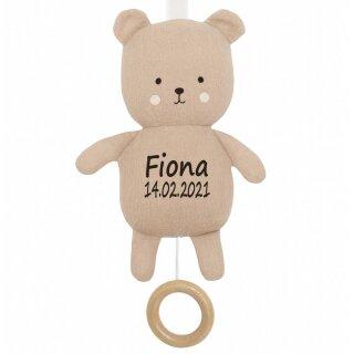 Spieluhr Teddy Bär Geschenk mit Namen und Geburtsdatum personalisiert