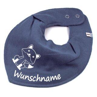 HALSTUCH Fuchs mit Namen oder Text personalisiert für Baby oder Kind verschiedene Ausführungen