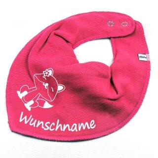 HALSTUCH Füchsin mit Namen oder Text personalisiert für Baby oder Kind verschiedene Ausführungen