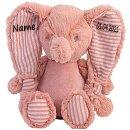 Stofftier Elefant Geschenk mit Namen und Geburtsdatum...