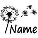 Wandtattoo Türaufkleber mit Namen personalisiert Motiv Pusteblume